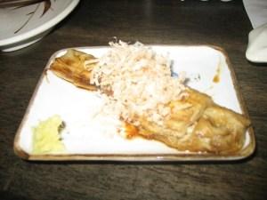 Eggplant with bonito flakes
