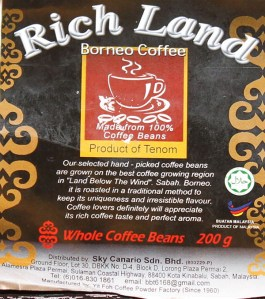 Borneo Coffee – Yit Fho Rich Land Coffee from Tenom, Sabah in Malaysia