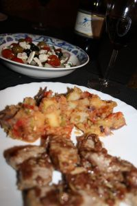 Greek Recipes: Kalamata Pork Tenderloin with Rosemary