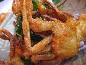 Close up of soft shell crab