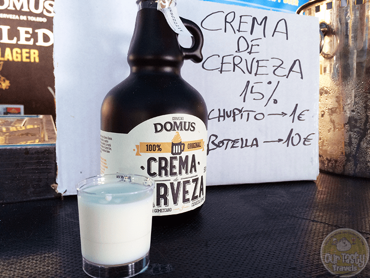 More than just beer; beer based liqueur, almost like Bailey's, at the Birrasana Beer Festival in Blanes, Spain