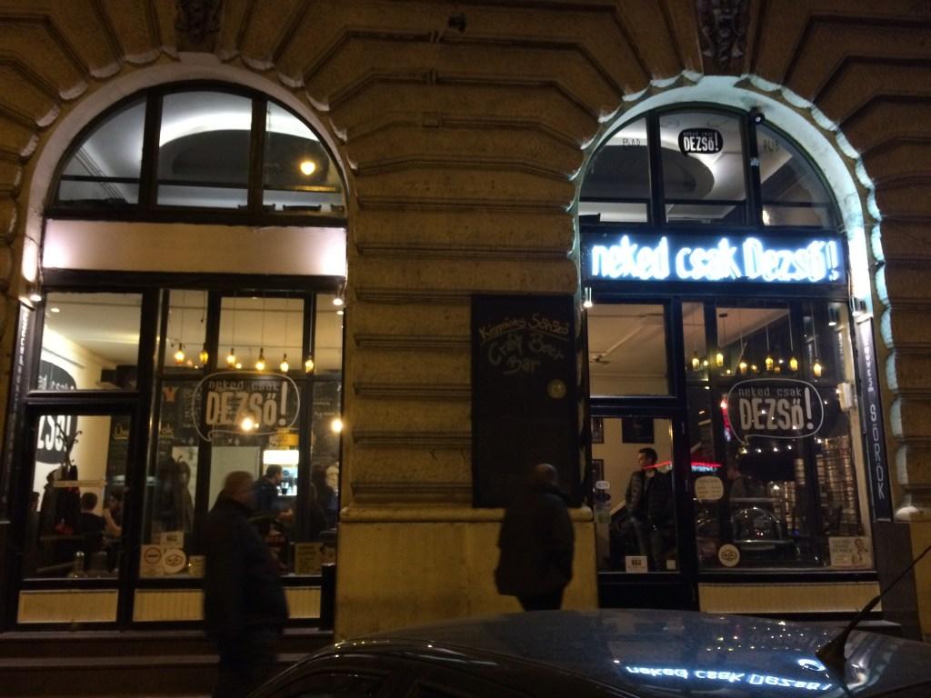 Neked Csak Dezső! in Budapest, Hungary #craftbeer