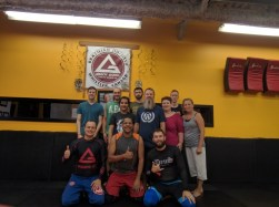 Beginner jiu jitsu class with my co-workers while at Whistler