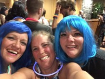 Blue wigs at the final party at the Grand Meetup