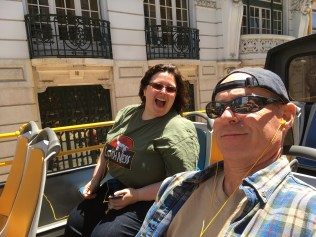 Lise and Chris on the Yellow Bus Tour