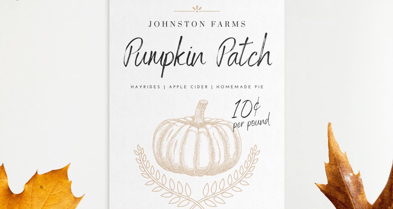 Pumpkin Patch Canvas Print