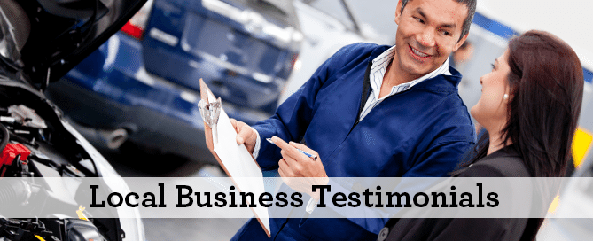 Local Business Testimonials Wilmington, Cary and Raleigh, North Carolina