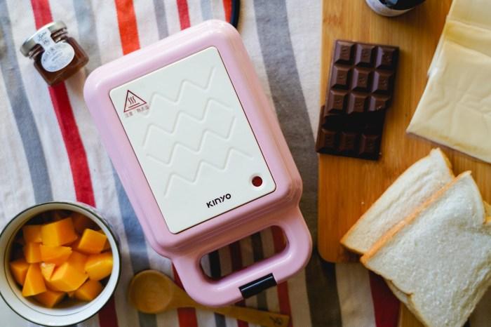 三明治機推薦 KINYO2in1三明治點心機:輕鬆在家來個豐盛早餐、鬆餅下午茶.鬆餅機.熱壓三明治