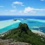 Maupiti von oben, Blick auf die Lagune