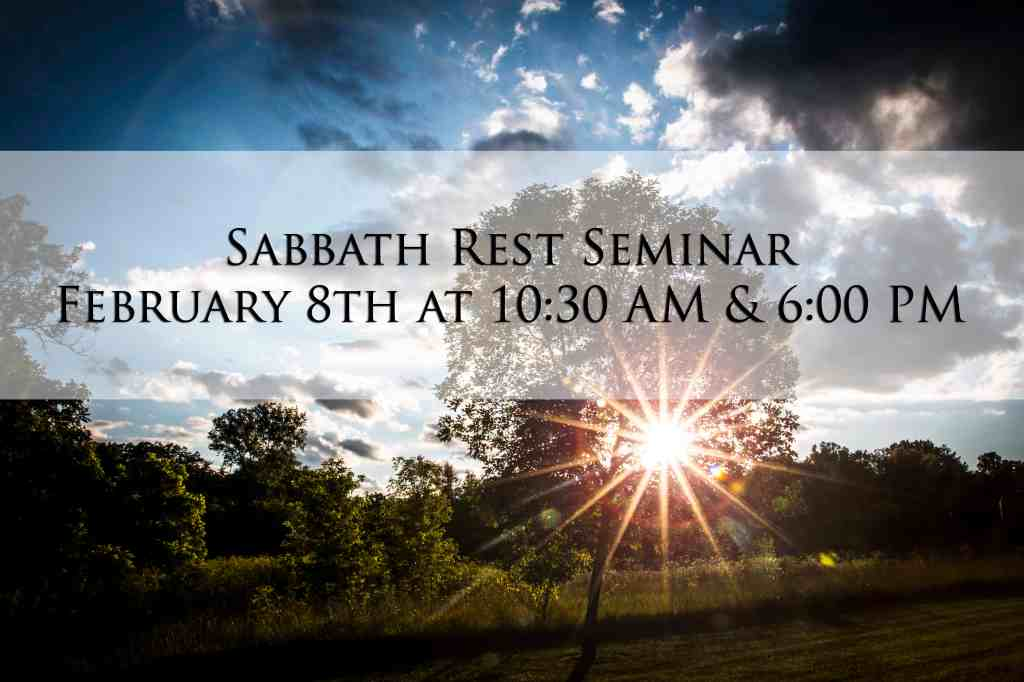 sabbath rest poster