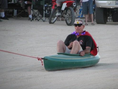 Kayaks along the beach in San Felipe