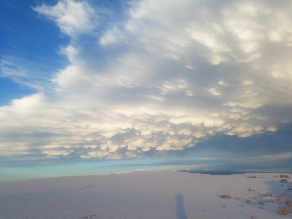 Incredible clouds White Sands National Monument New Mexico
