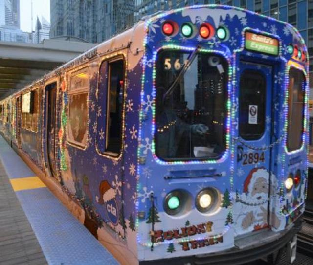 And The Weather Is Not Cold The Holiday Spirit Is Covering The City Thanks To The Chicago Transit Authority Cta Holiday Train And Bus Through Dec