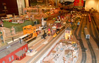 Part of an enormous model railroad display.