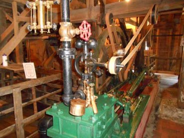 The engine is electrical now, but originally was a coal-fired steam boiler.