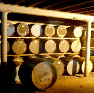 Some of the aging casks on display.