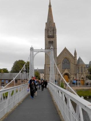 Foot bridge crossing the river. It had a bit of a bounce.