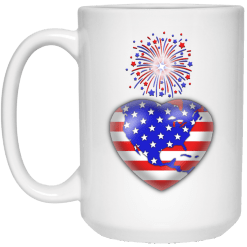 4th of July Mug, fireworks mug, american flag mug, patriotic mug