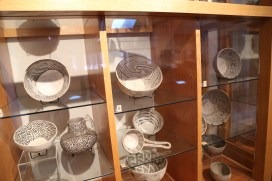 Pottery, including the signature Flagstaff design which includes 'hooks and lines' - similar designs are found in petroglyphs
