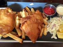Halibut fish n chips - sorry to the Lobster Roll and Australia, but these were the BEST I've ever had!
