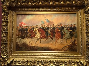 Study for Grant and his Generals, the Norwegian artist Balling traveled to Union army encampments, to which Grant was very agreeable