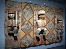 Initiation wall panels, the Congo (displayed at conclusion of a boy's initiation schooling)