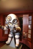 Jim, one person atmospheric diving suit, provides oxygen for 72 hours!