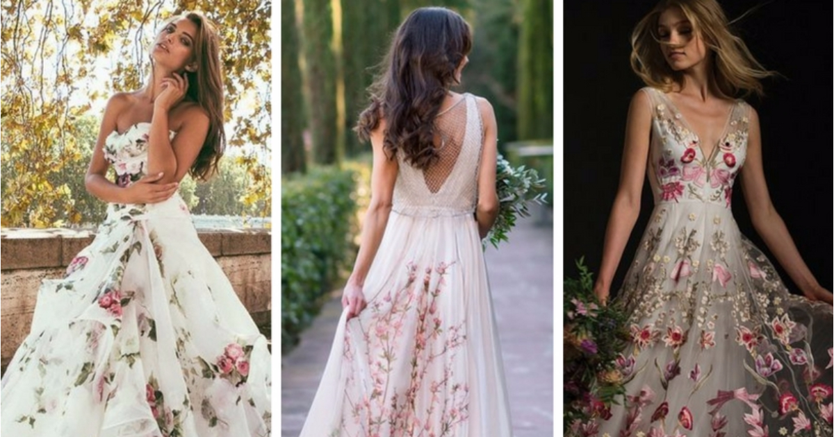 Floral Wedding Dresses To Make You Swoon