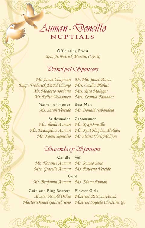 Wedding invitation with entourage sample wedding invitation list entourage image collections stopboris Gallery