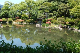 Japanese garden within the castle grounds