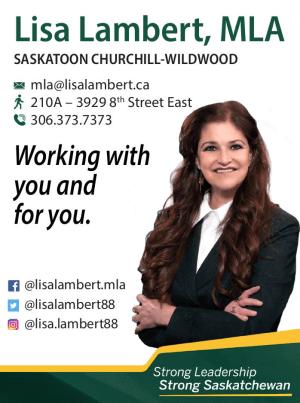 Lisa Lambert, MLA Saskatoon, Churchill-Wildwood