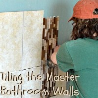 Tiling the Walls in the Master Bathroom