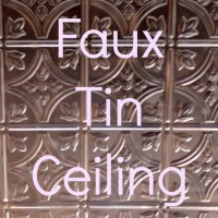 Faux Tin Ceiling