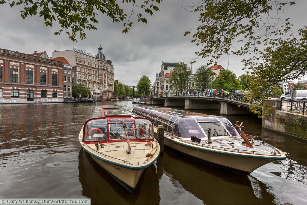 Canal Cruisers on the Amstel, Amsterdam, Netherlands