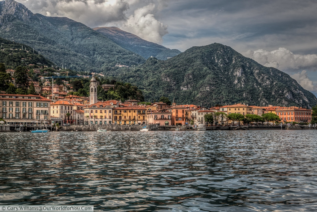 The view of Menaggio town from the Lake, Lake Como, Italy