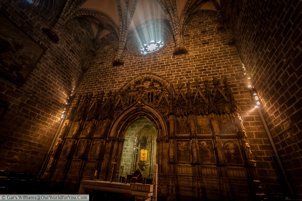 The chapel of the Holy Grail inside the Cathedral, Valencia, Spain