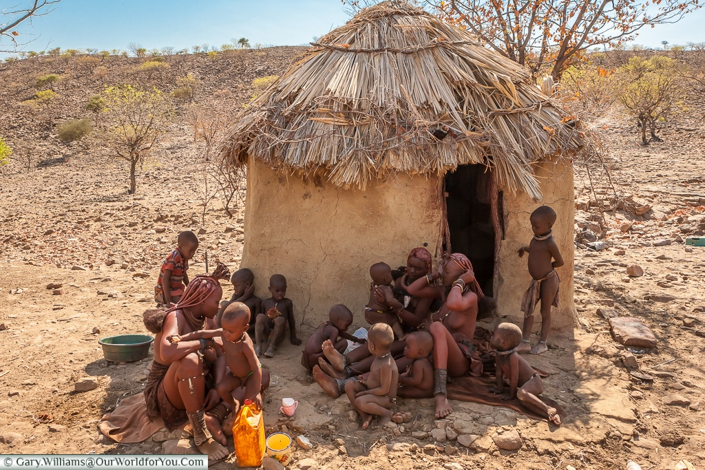 The crèche of the Himba tribe, Damaraland, Namibia