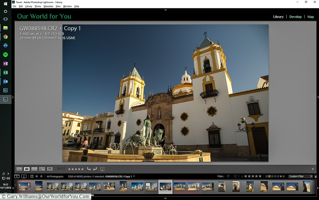 The RAW Image in Lighroom