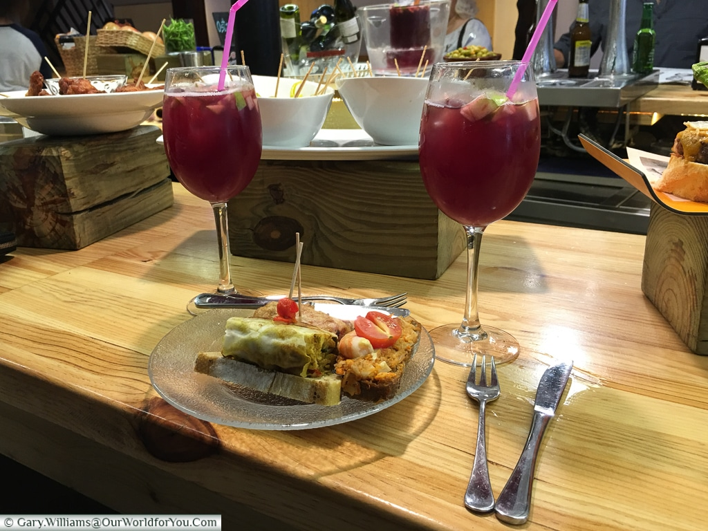 Sangria and lunch at Lurrina, Bilbao, Spain