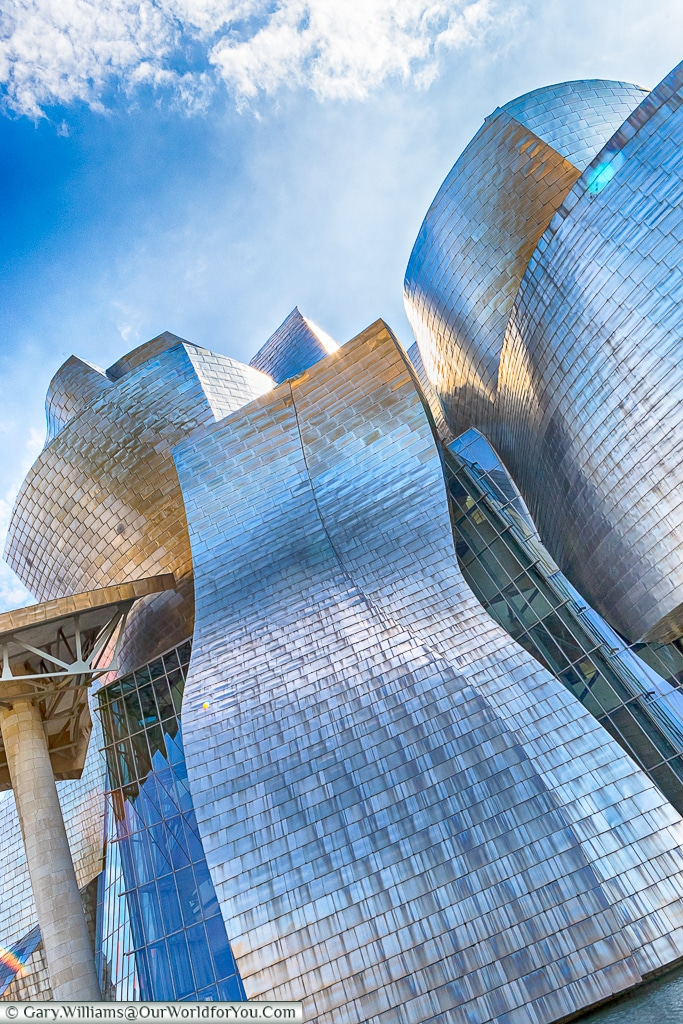 The Guggenheim looks great from so many angles, Bilbao, Spain