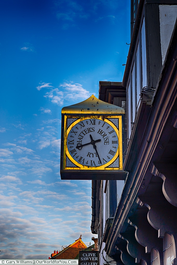 Chatter's House Clock, Rye, East Sussex, England, UK