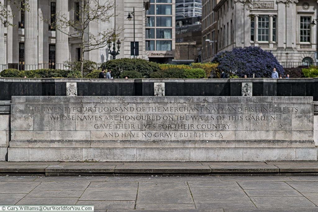 No grave but the sea - Tower Hill Memorial, London, England