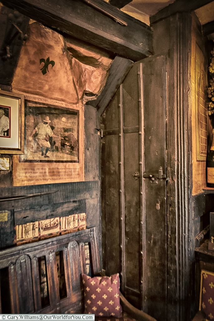 Secret passages at the Mermaid Inn, Rye, East Sussex, England, UK