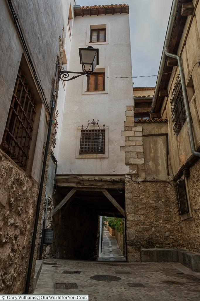 Mystery passages along Calle Julián Romero, Cuenca, Spain