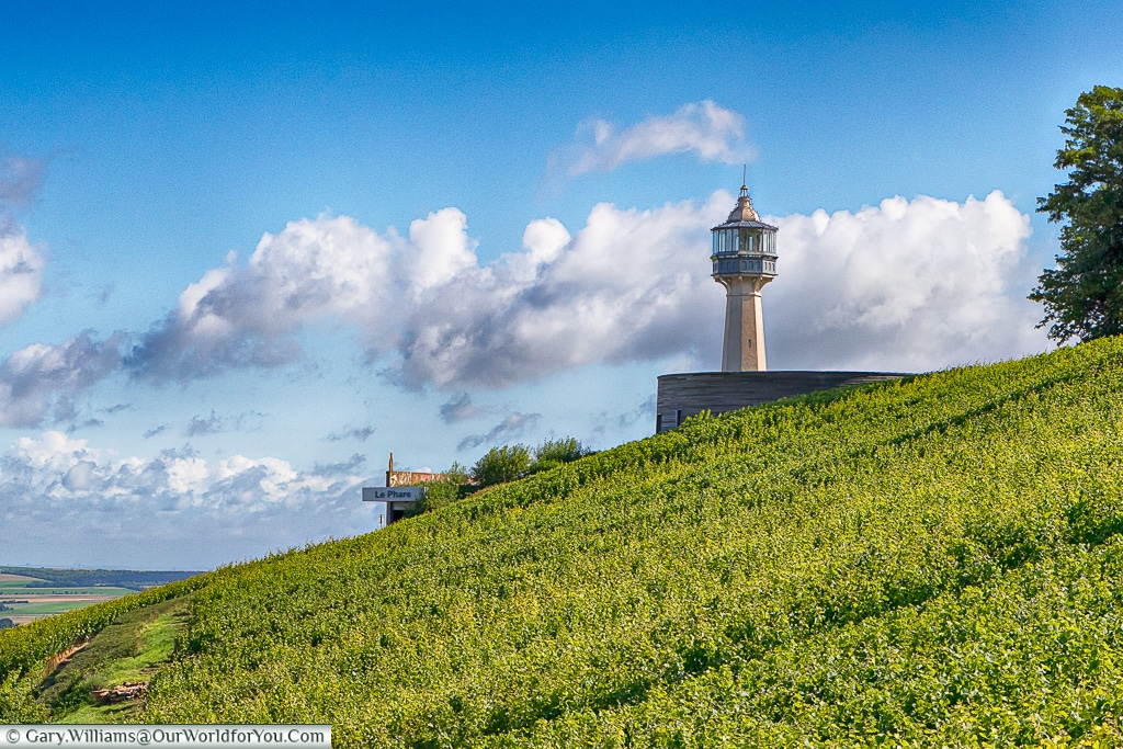 The lighthouse at Verzenay, Champagne Region, France