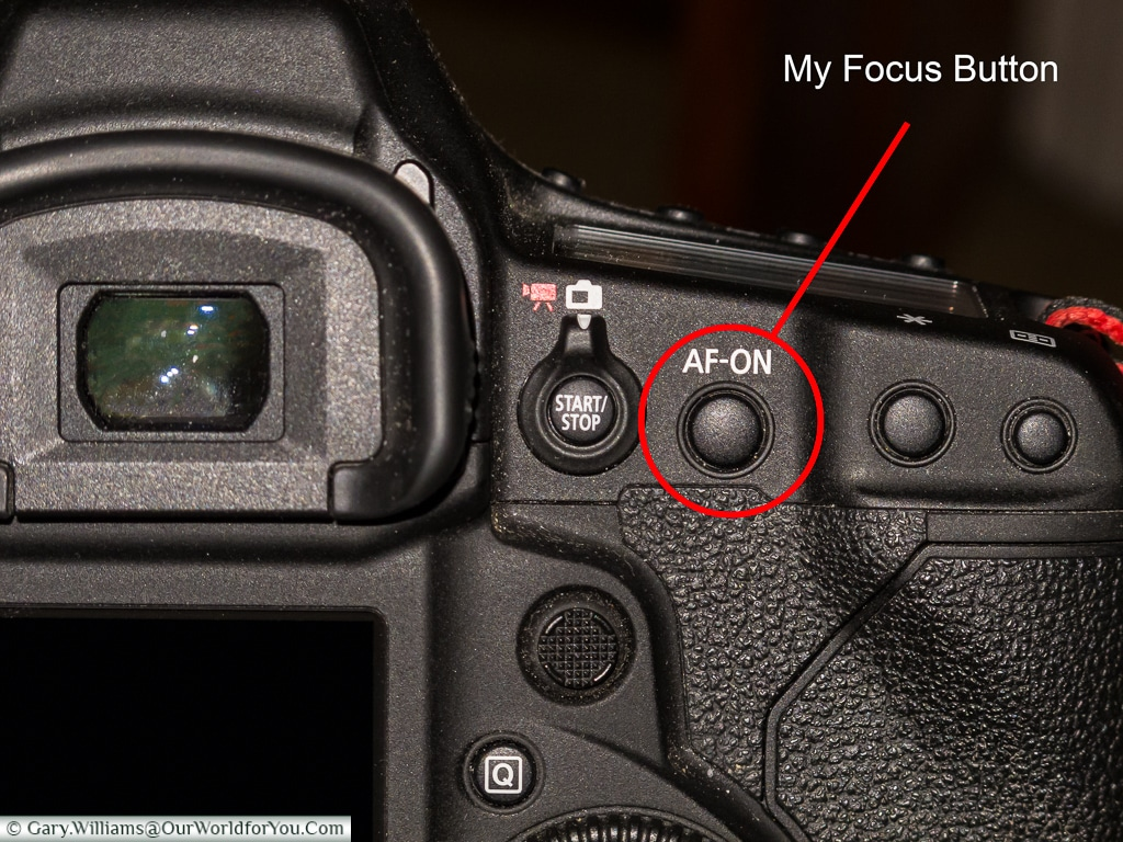 The AF-On Button on a Canon camera