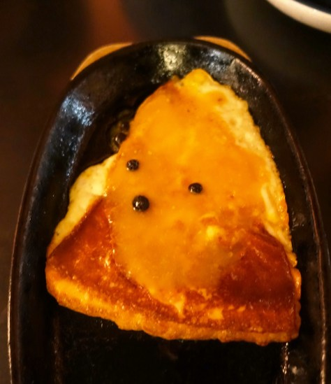 Cheese Saganaki, kumquat syrup