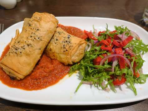 Chicken and Asparagus Filo