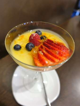 Coconut Panna Cotta with mixed berries