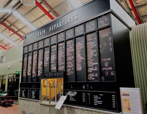 Old Adelaide Station Departure Board
